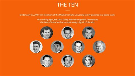 The Ten: OSU To Remember Those Lost In 2001 Plane Crash