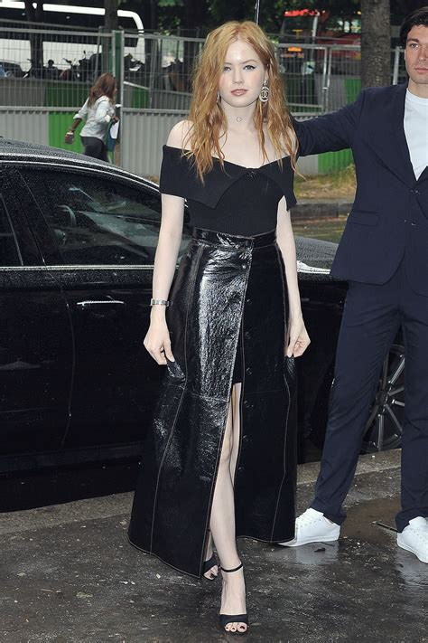 Ellie Bamber attends Chanel Cruise Collection - Leather