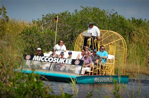 Miccosukee Indian Village Airboat ride through the