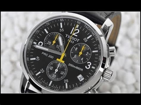 TISSOT PRC 200 chronograph battery replacement - YouTube