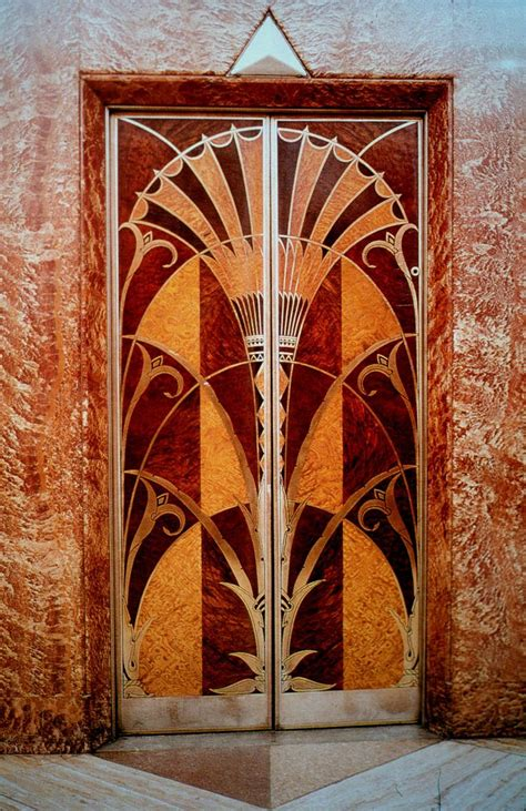 Elevator door, Chrysler building, in Egyptian style with