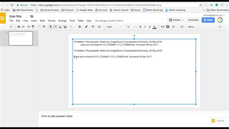 How to create MLA hanging indents on Google Slides for